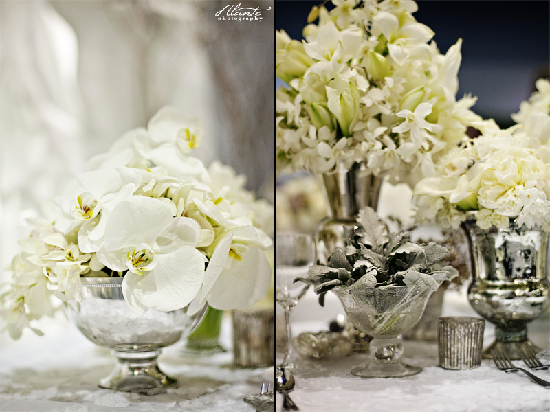 White Orchids in a Vintage Vase