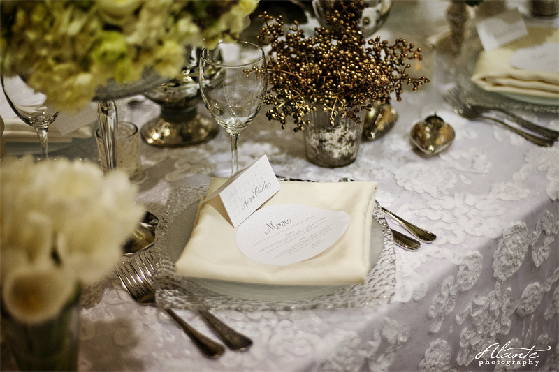 Shabby Chic Wedding Table Setting