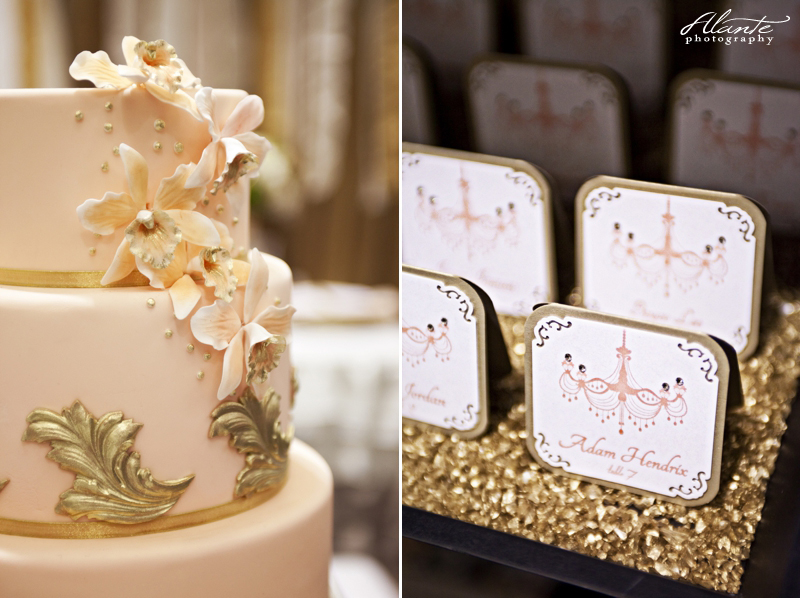 Elements of the booth include the cake from Honey Crumb Cake Studio and