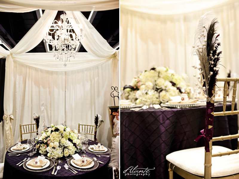 Show Recap Washington Athletic Club Purple and Silver Wedding Decor